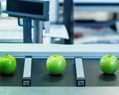Epler på rullebånd